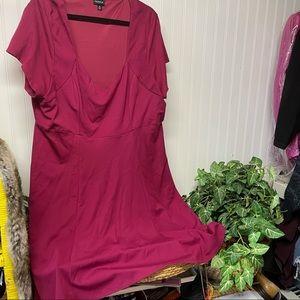 Torrid maroon sweetheart dress Size 4 (4X)